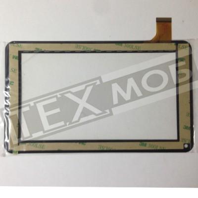 Тачскрин 186x111mm 30pin TYF1039V3, TYF-20121122-1039V3, FPC0700MG93B С отверстием под динамик Черный