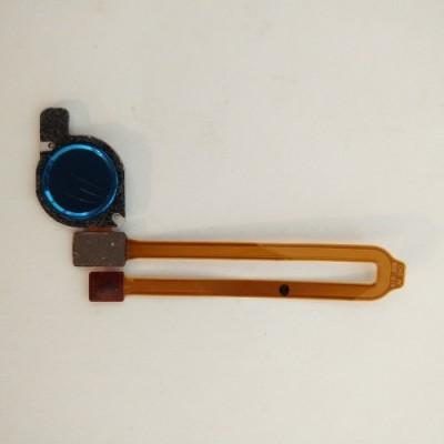 Шлейф с сканером отпечатка пальца Huawei Y7 2019 Blue