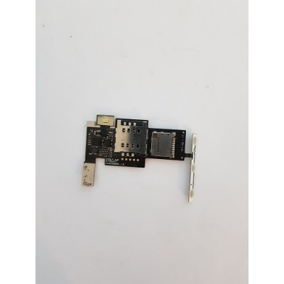 Шлейф с сим коннектором LG P970 с компонентами